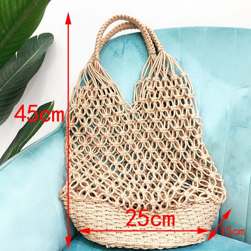 How much knitted rattan tote bag 2021