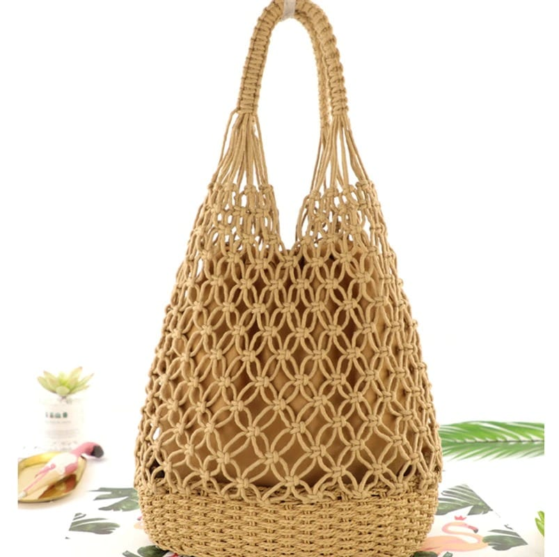 Navy oversized straw beach bag better