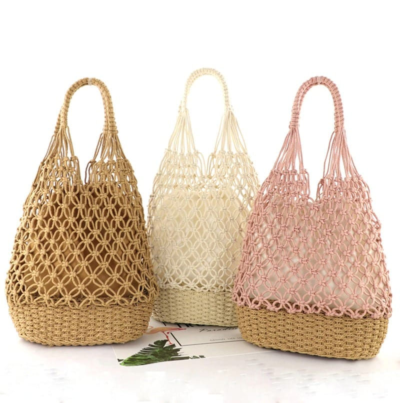 Casual summer straw bag