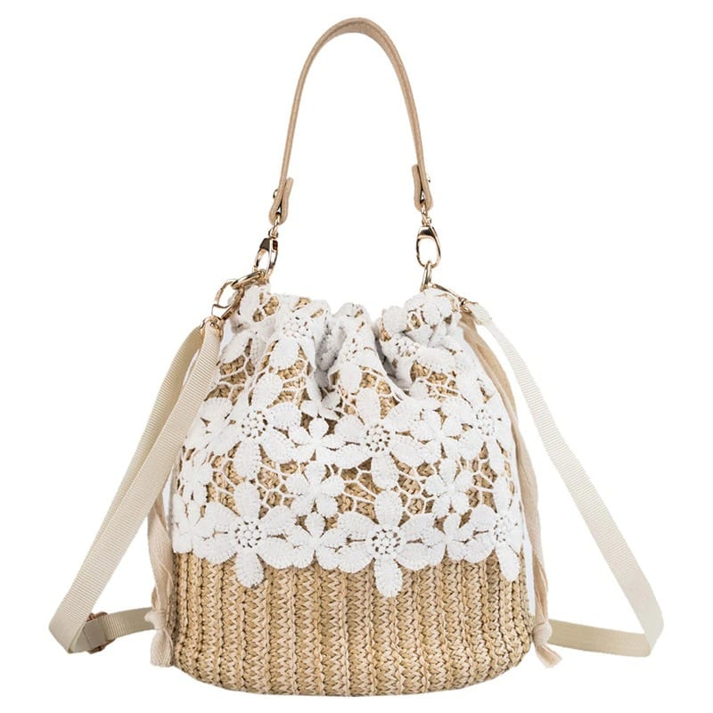 How many natural round straw crossbody bag better