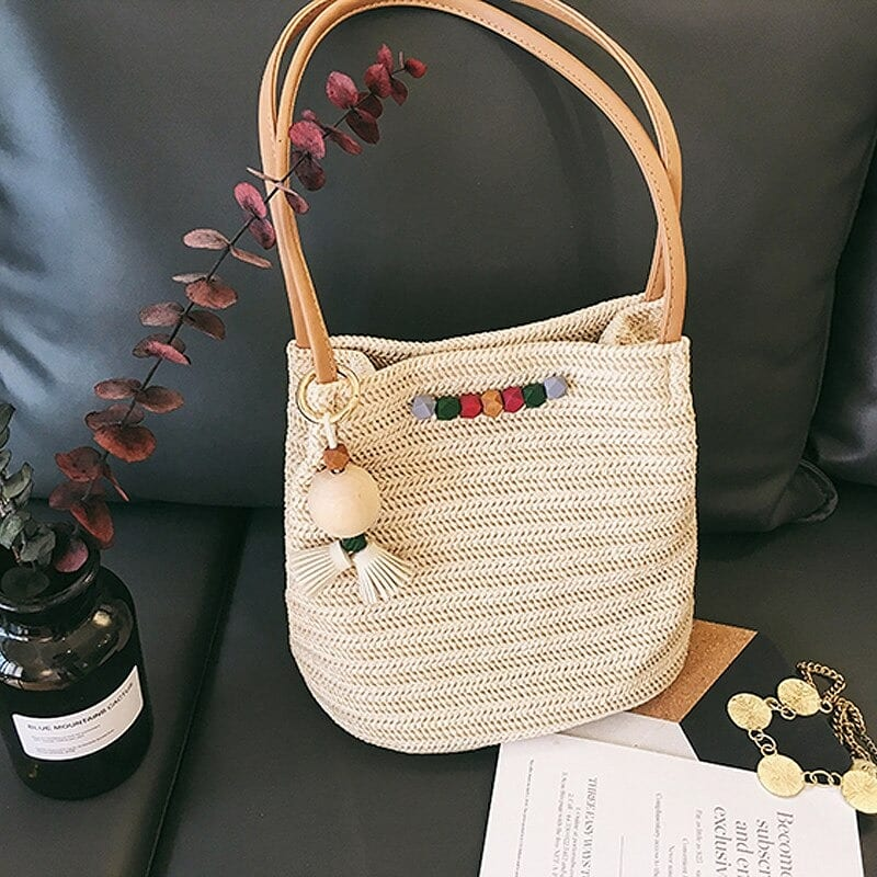 Solid wicker beach bag quality