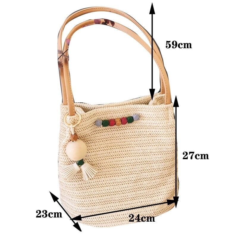 Cheap straw handbag for summer top