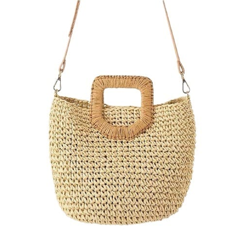 Party round straw bag quality