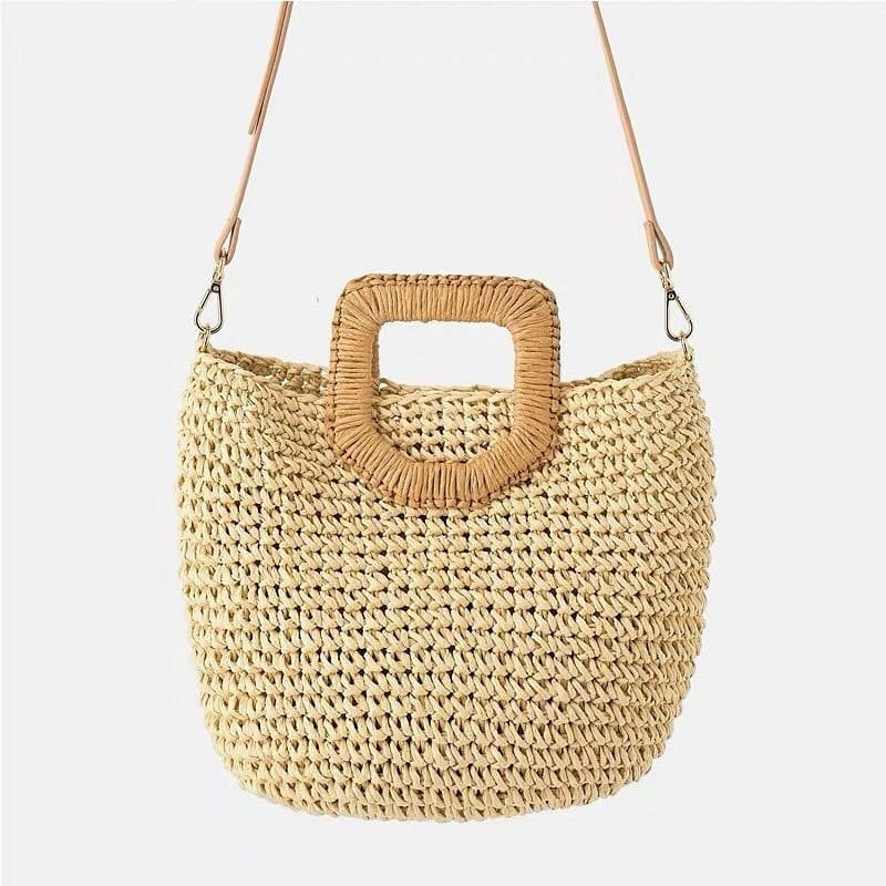 Basket straw clutch top