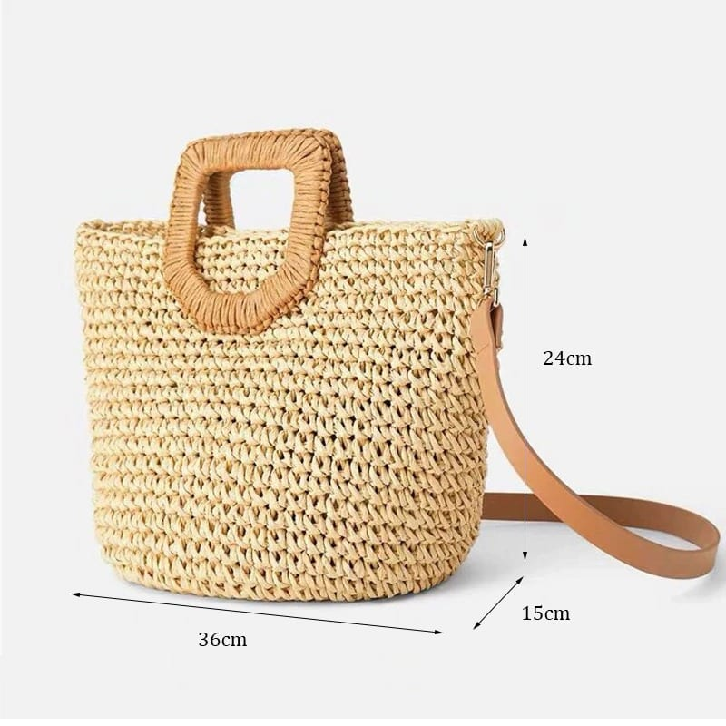 When black straw bags summer top