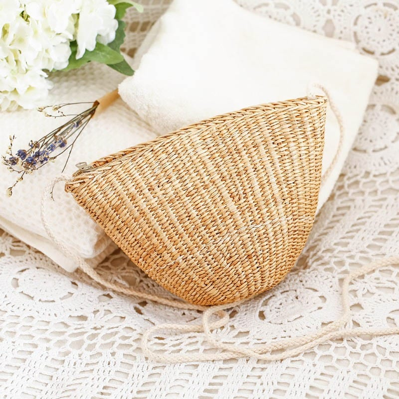 Small woven straw crossbody bags value