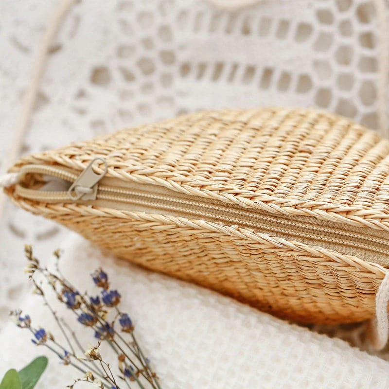 How long woven purse rattan value