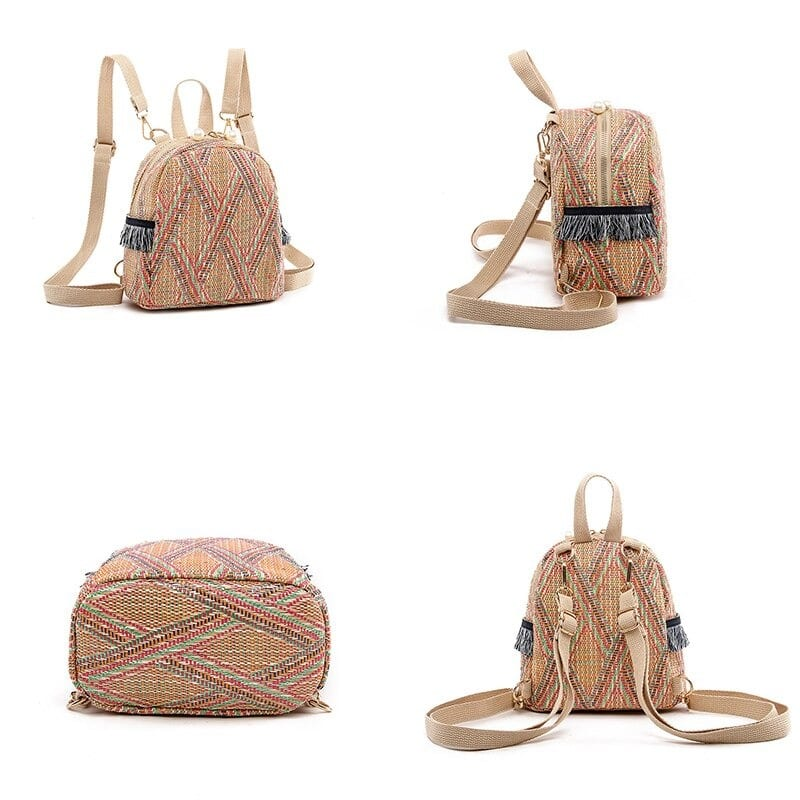 How many chain round straw bag