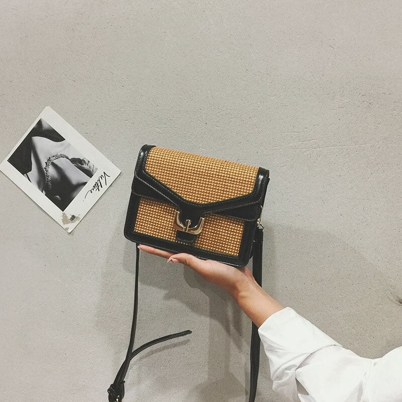 How much lined woven leather bag quality