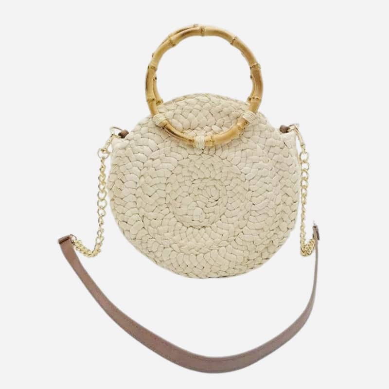 Half moon woven beach bag recomment