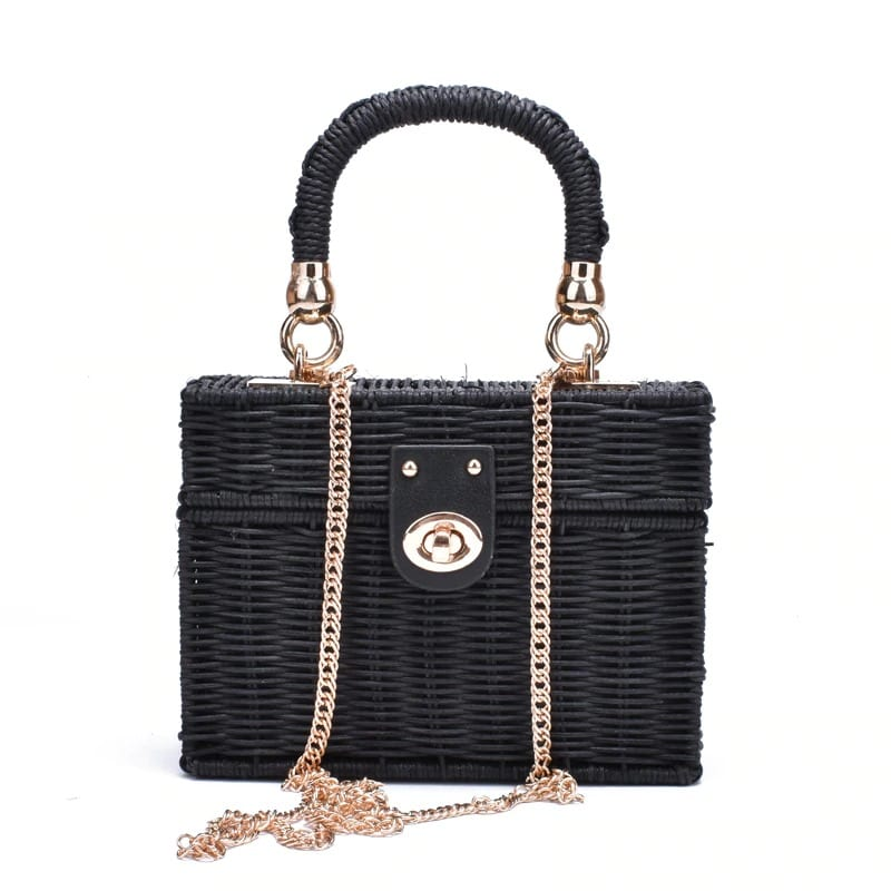 Straw and leather handbags on sale quality