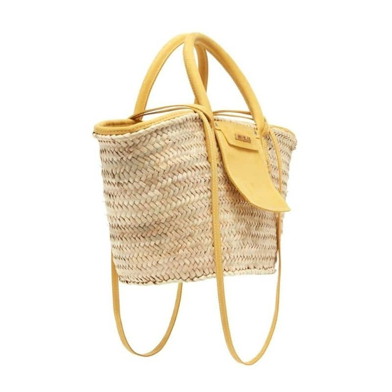 Half moon round rattan bag top