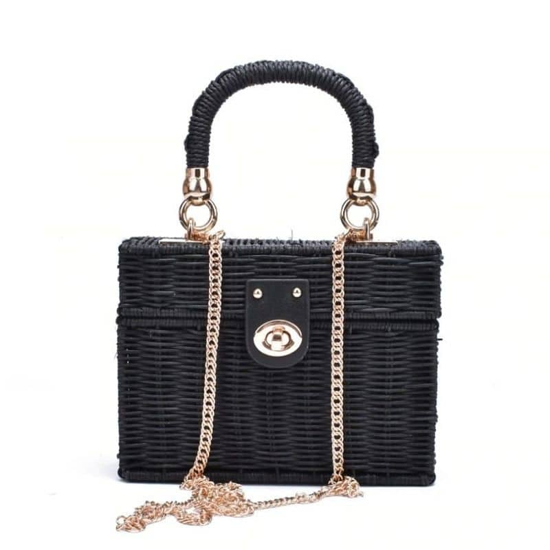 How many wicker purse with zipper 2021