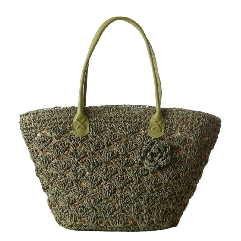 Knitted rattan clutch