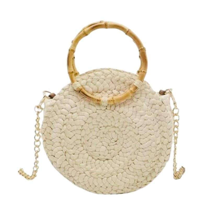 Rattan black straw bags best