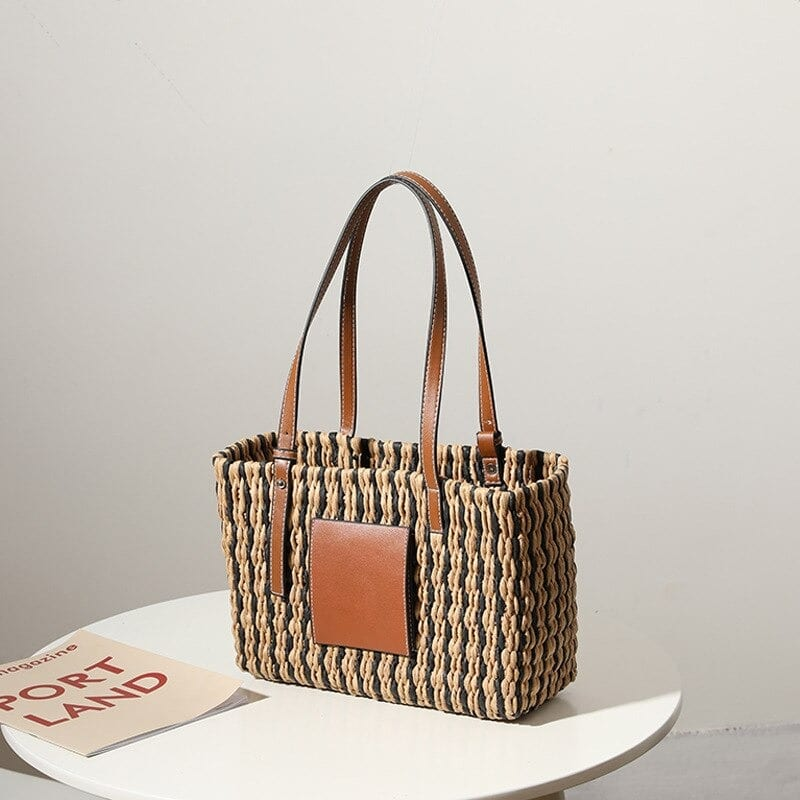 How many custom woven leather bag