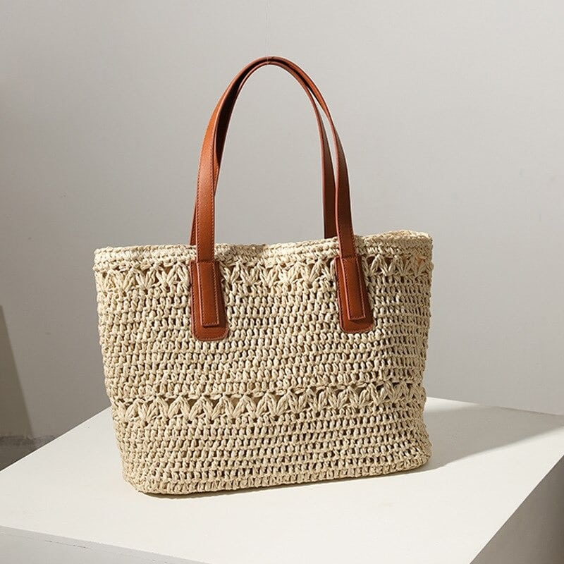Where stripped designer straw handbag recomment