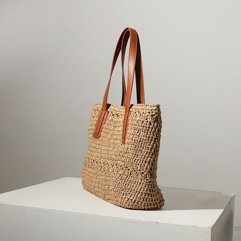 Black woven handbag better