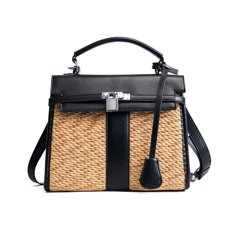 How many luxury straw bag with leather handles 2021