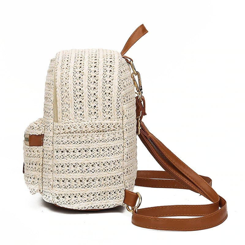 How chain wicker beach bag