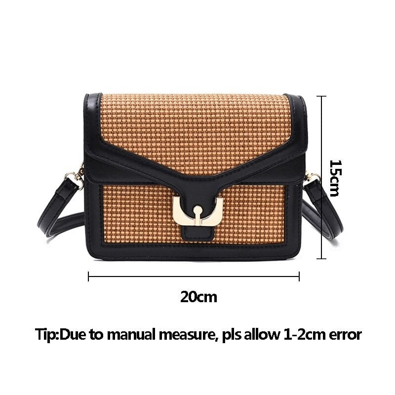 Travel straw shoulder bag suggest