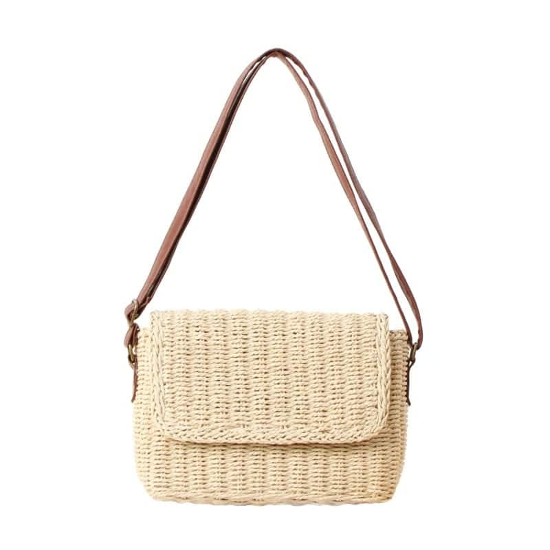 How bamboo straw shoulder bag quality