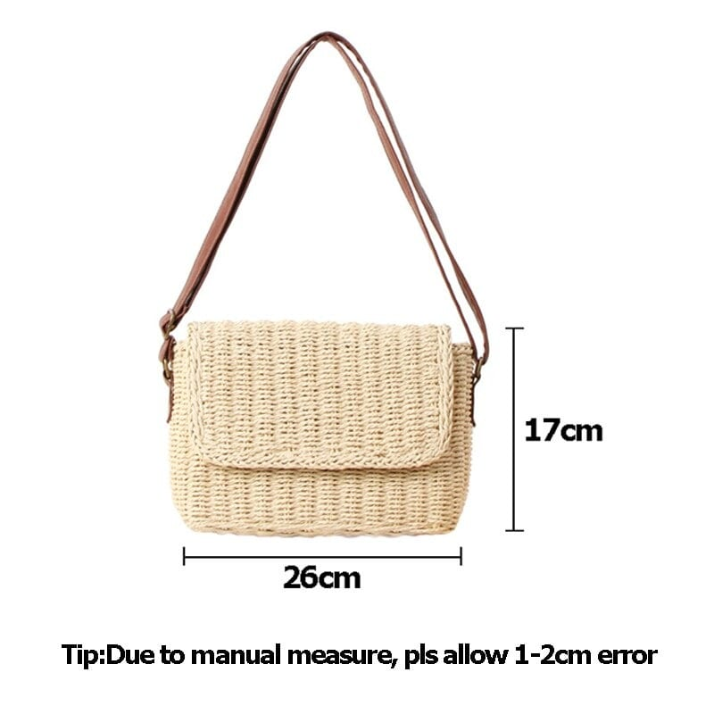 Party straw bag with leather handles best