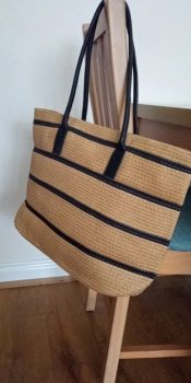 Large Straw Tote Bag for Summer - Beach Shoulder Straw Tote photo review